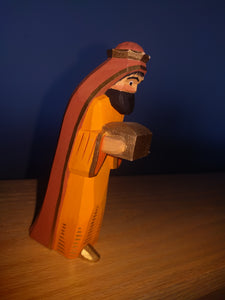 Lotte Sievers Hahn Hand Carved and Painted Nativity Wise Man Brown