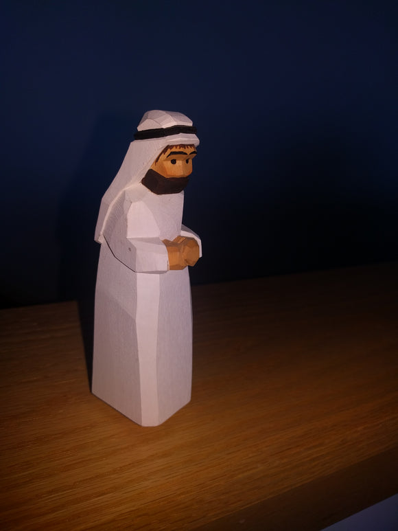Lotte Sievers Hahn Hand Carved and Painted Nativity  Camel Leader
