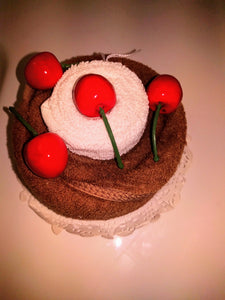 Black Forest Cake Washcloth Gift
