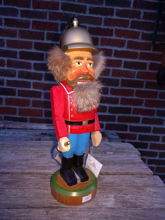 Junghaenel Hand Carved, dated and signed Fire Fighter Nutcracker