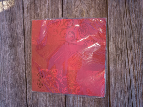 Red Winter time Advent Christmas Napkins