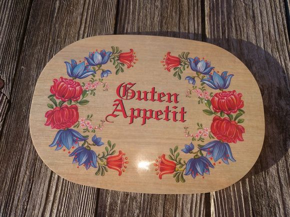 Oval Guten Appetit Breakfast Cutting  Board