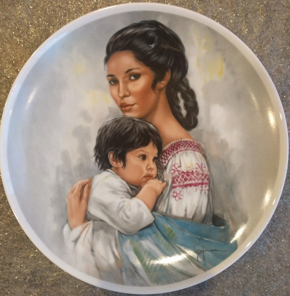 1980 Limited Edition Royal Bayreuth Mothers Day Plate Collectors Plate