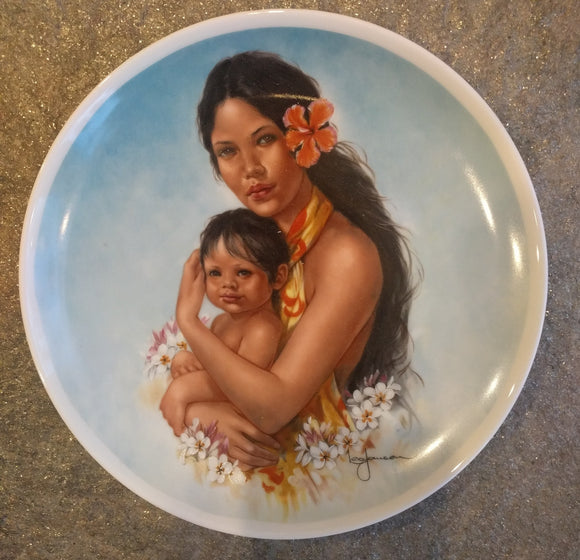1981 Colored Limited Edition Royal Bayreuth Mothers Day Plate Collectors Plate