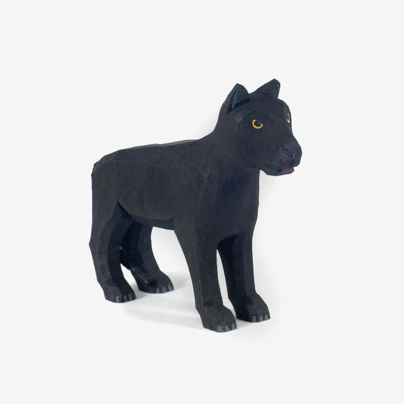 1867 Lotte Sievers Hahn Hand Carved Wooden Panther
