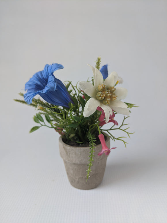 Alpine Silk  Flower Pot