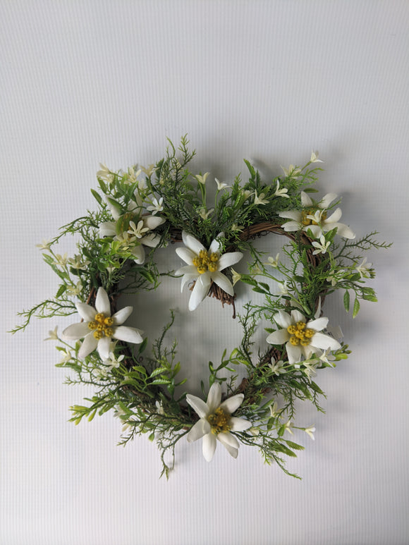 Silk Edelweiss Flower Heart