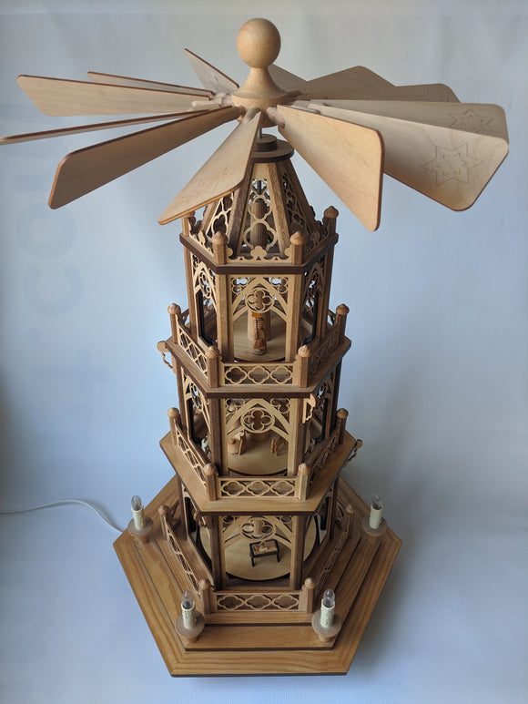 Electric Wooden  3 tier Pyramid