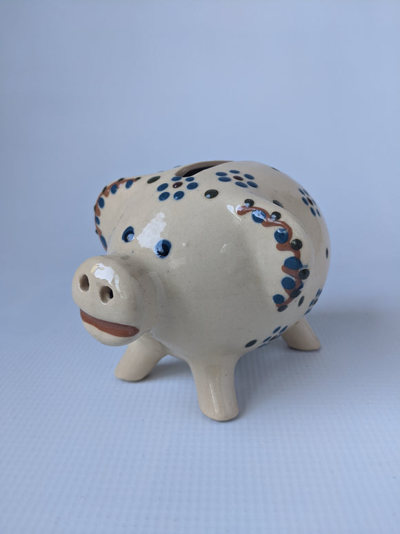 Hand made Bunzlauer Pottery Piggy Bank