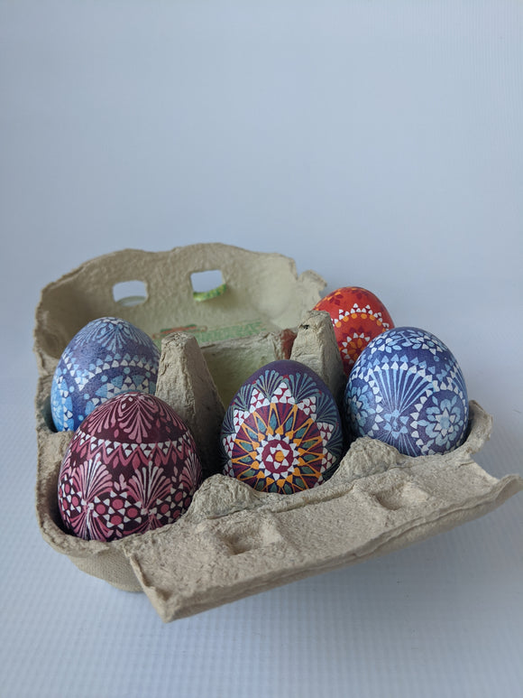 Hand Decorated Sorbian Wax Technique Easter Eggs