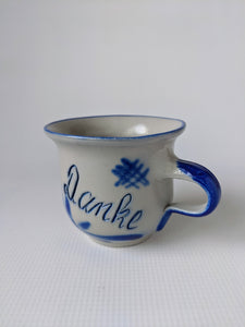 German Hand Made Salt Glazed Pottery DANKE Mug