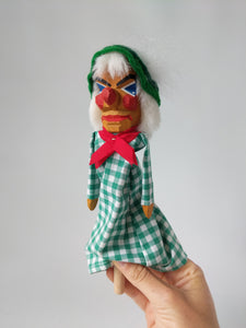 Lotte Sievers Hahn Hand Carved Hand Puppet SEPPEL on the Stick