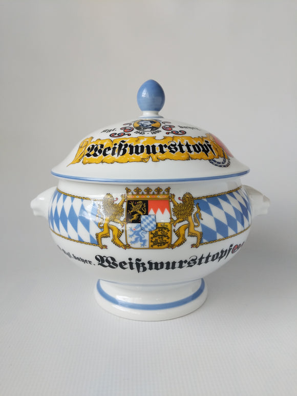 Weisswurst Bowl with Lid