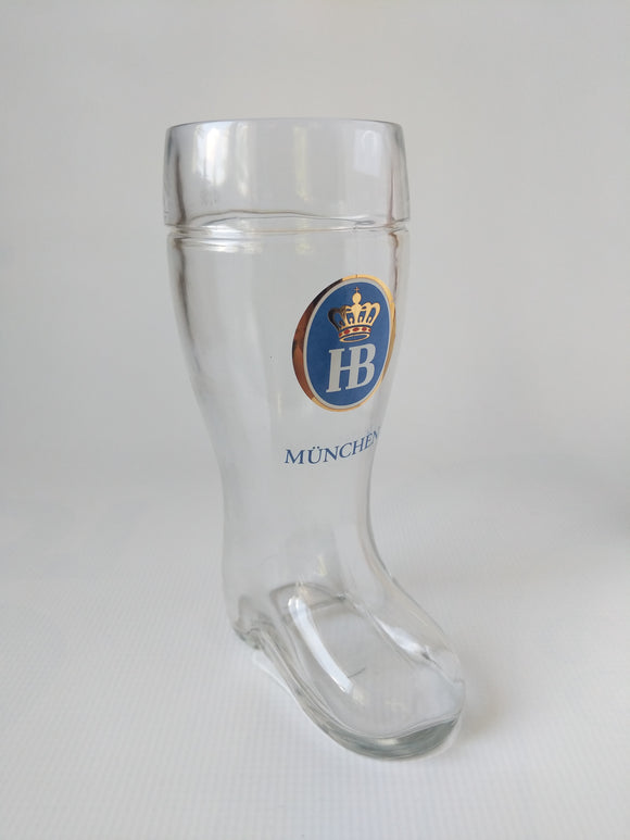 HB Muenchen Beer Boot Glass