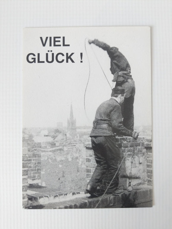 Viel Glueck / Good Luck Chimney Sweep Post Card