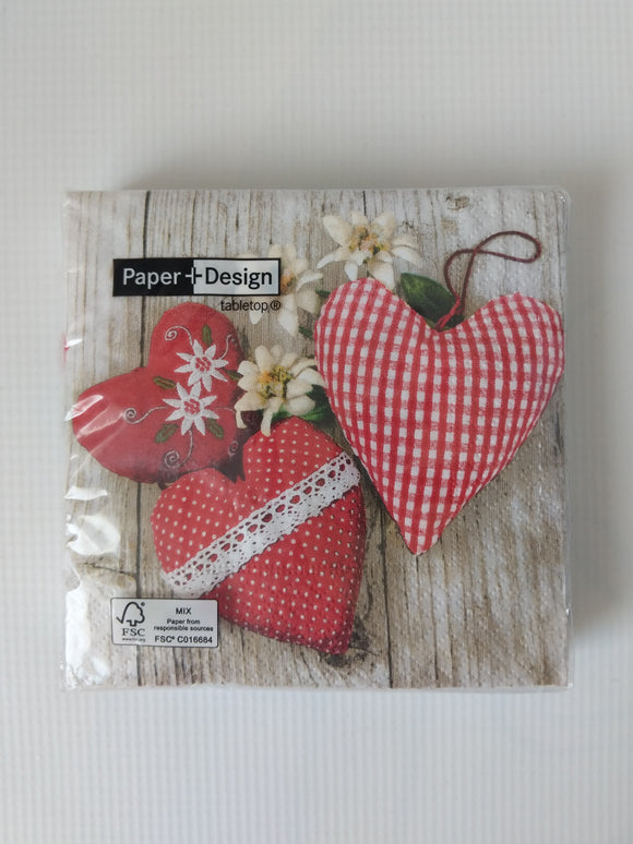 German Hearts Paper Napkins