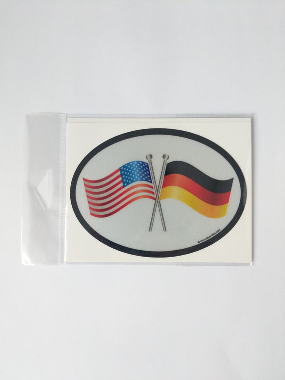 German and American Flags Decal
