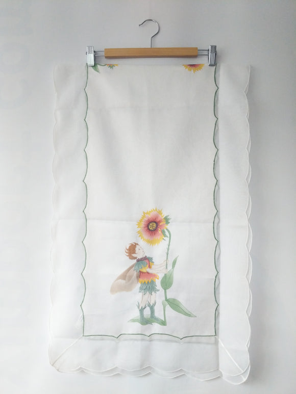 Flower Fairy Embroidered Tablecloth, Table Runner