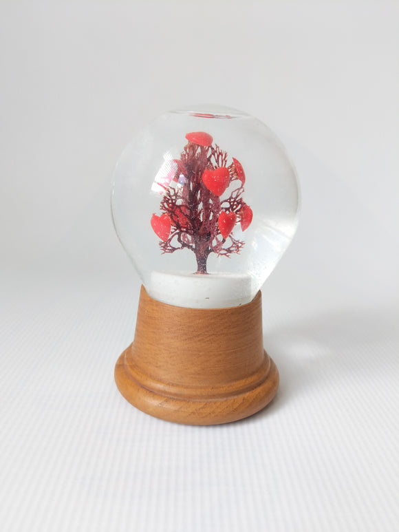 Original Vienna/Austria Heart Tree Snow Globe