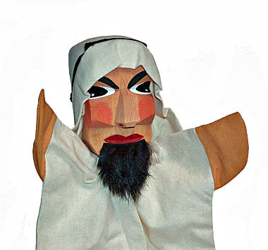 Sheik Hand Carved Glove Hand Puppets