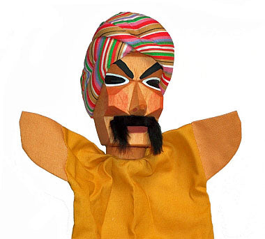Sultan Hand Carved Glove Hand Puppet