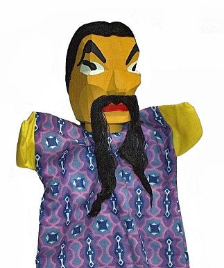Chinese Man Hand Carved Glove Hand Puppet
