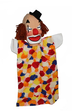 Clown on a Stick Hand Carved Puppet