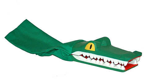 Crocodile on a Stick Hand Carved Puppet