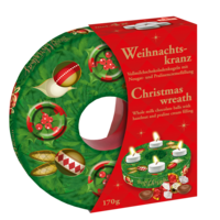 Windel Weihnachtskranz   Metal Advents Wreath filled with Chocolate