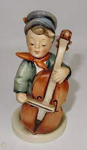 W786 Hummel Goebel Figurine, Sweet Music,, 1957-60, Initialed, West Germany