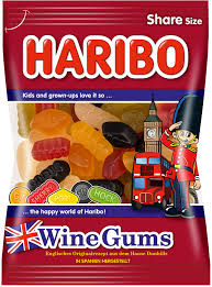 German Haribo Wine Gummy Candy
