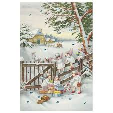 Glitter 12400 Advent Calendar Card with Envelope Angel  in the Country