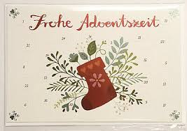 12452 Advents Calendar Card with Envelope  Frohe Adventszeit