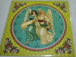 12438 Advents Calendar Card with Envelope Two  Angels