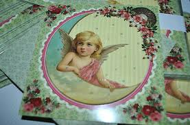 "12440 Advent Calendar Card with Envelope ""Nostalgic Angel on the Moon"""