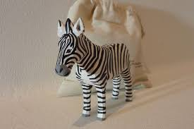 1242 Lotte Sievers Hahn Hand carved Wooden  Zebra