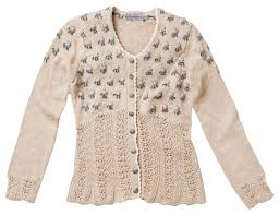 Stockerpoint Gianina Knitted Jacket with Hand Embroidery
