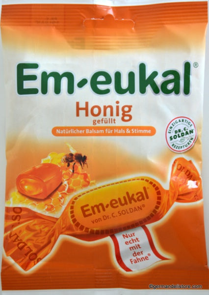 Dr. Soldan Em-Eukal Honey Cough Drops , Deliciously effective