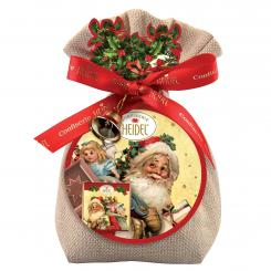 Confiserie Heidel Chocolate Santa Bag  with Bell