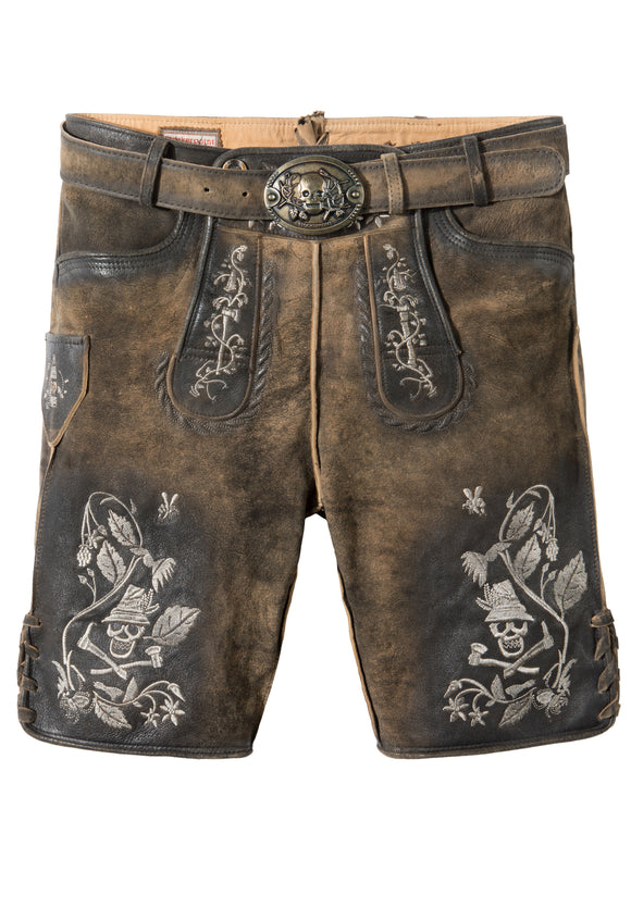 Stockerpoint Holzknecht2 Men Trachten Lederhosen Leather Pants with Belt muskat vintage nature