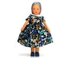 Lotte Sievers Hahn Doll's house, grandmother, 12,5 cm