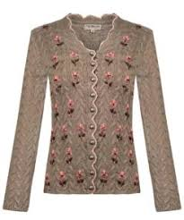 Stockerpoint Marlene Knitted Jacket with Hand Embroidery