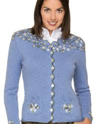 Stockerpoint Hilda Knitted Jacket with Hand Embroidery