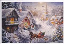 Glitter 12356 Advent Calendar Card with Envelope Nostalgic Christmas Village