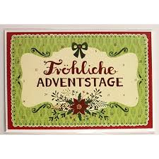 12451 Advents Calendar Card with Envelope Froehliche Adventstage
