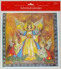 Advents Calendar Angel with candles and singing with Glitter