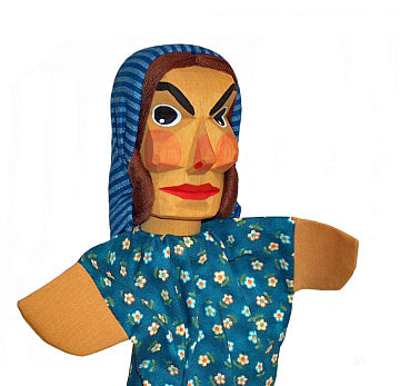 Marie , Mother Hand Carved Glove Hand Puppet