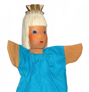 Princess on a stick Hand Carved Hand Puppet