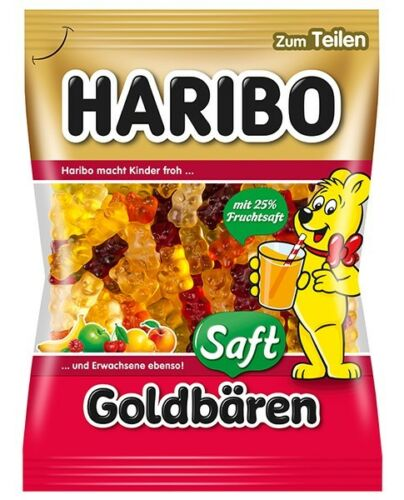 German Haribo Saft Goldbaeren zum Teilen for Sharing Gummy Candy