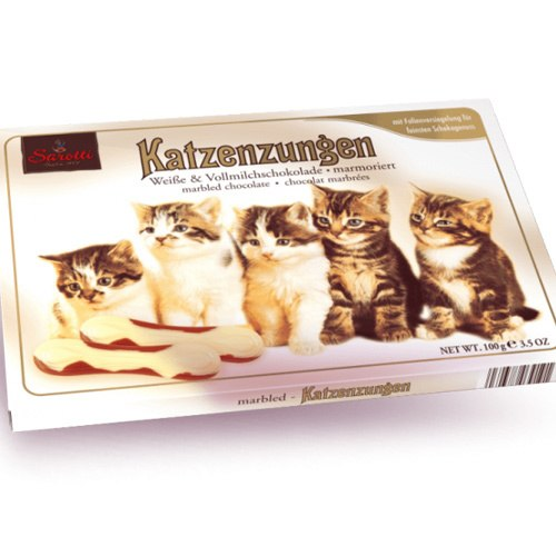 Sarotti Katzenzungen   White and Milk Chocolate Cat tongue